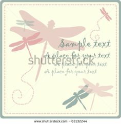 stock vector : dragonfly greeting card