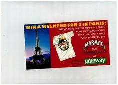 Marmite Weekend for 2 in Paris Advert Flyer 1991 Gateway Supermarkets | eBay