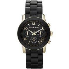 Best Bracelet 2017/ 2018 : Michael Kors Runway Goldtone Stainless Steel & Rubber Bracelet Watch ($290) ...