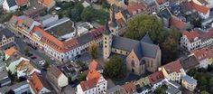 Luftbildaufnahme des Zentrums von Grimma.