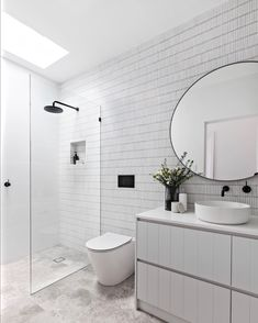 Bathroom decor for your master bathroom renovation. Discover bathroom organization, master bathroom decor tips, master bathroom tile some ideas, bathroom paint colors, and much more. Main Bathroom, Wall Mount Faucet Bathroom, Bathroom Layout, Modern Bathroom, Bathroom Renovations, Luxury Bathroom, Bathroom Design, Bathroom Decor, Tile Bathroom