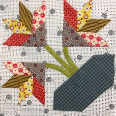 Month 8 of Bring Me Flowers BOM from Amitie Textiles #quilt #amitietextiles #jenkingwell