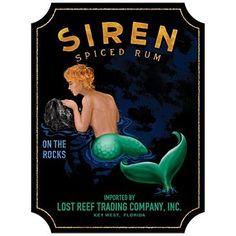 Vintage poster + mermaid = win