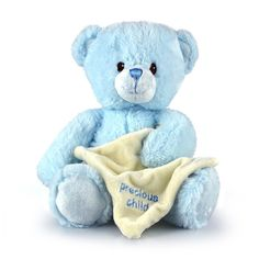 Title: Precious Child Pink Teddy Bear with blankie Size: Measures 12 inch / 30cm long Price: AUS$ 19.95 Brand : Korimco  Lots more items like this available at: www.stuffedwithplushtoys.com 100 Day Returns |Fast Trackable Shipping|Amazing Service