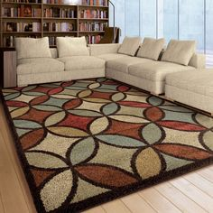 Unique Loom Turkish Coffee Multi Red Abstract Area Rug 8 X 10 Size And Outlet