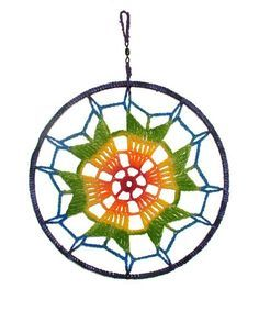 10 Mandala Rainbow Dreamcatcher Boho Hippy Dream by rensfibreart