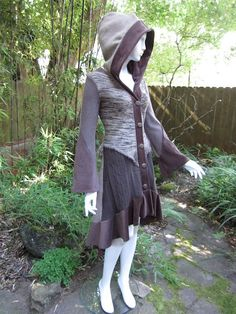 Recycled Sweater Coat 70 ... Olive & Burgundy by ipseity on Etsy