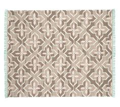 Trina Rug - Brown/Turquoise | Pottery Barn :: $400 for 5x8