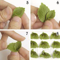 Cómo hacer hojas de menta con pasta de modelar   Little Wonderland