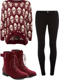 """""""(:"""" by autumn-wright on Polyvore...love the jumper and jeans but hate the shoes and so would swap those for converse or doc martins"""
