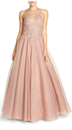 Embellished lace bodice ballgown