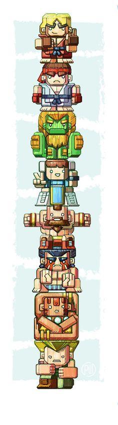 Street Fighter Totem