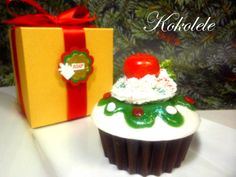 Christmas Cupcake Soap by Kokolele on Etsy, $8.50