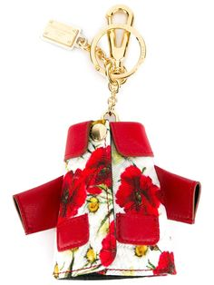 Dolce & Gabbana daisy and poppy print coat keyring