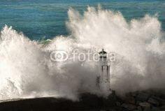 #Camogli #lighthouse with #wave crashing