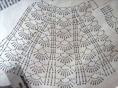 Fabulous Crochet a Little Black Crochet Dress Ideas. Georgeous Crochet a Little Black Crochet Dress Ideas. Crochet Skirt Pattern, Crochet Skirts, Crochet Fabric, Crochet Motifs, Crochet Diagram, Crochet Chart, Crochet Clothes, Crochet Stitches, Crochet Baby Dresses