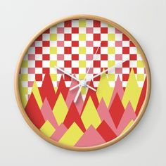 #Decorate any room of your #house with a colorful wall #clock. #society6