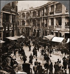 Queen's Road On Chinese New Years Day, Hong Kong, China [1902]