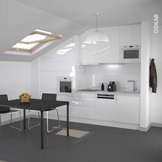 Cuisine blanche design meuble IRIS Blanc brillant   Interior ...