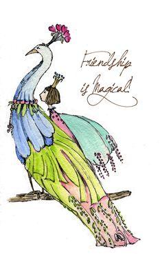 Peacock Friendship -  Cid Pear