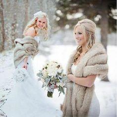 Winter Wedding Fur, Winter Wedding Bridesmaids, Winter Bride, Winter Weddings, Vintage Fur, Vintage Bridal, Bridal Bolero, Fur Stole, Winter Wedding Inspiration