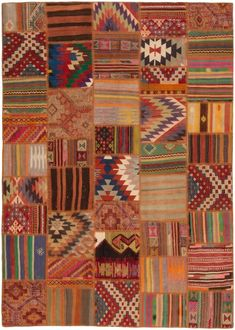 The Modern Kilim is a thin hand woven carpet. While Kilim carpets have been around since at least 400 A. Elephant Tapestry, Office Rug, Patchwork Rugs, Textiles, Woven Rug, Fabric Art, Soft Furnishings, Kilim Rugs, Rugs On Carpet