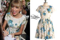 Resultado de imagen de taylor swift floral dress
