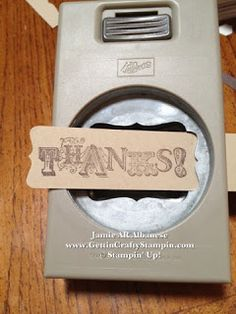 Duh! HOW to Punch a too-long sentiment w/a punch! #PaperCrafting #CardMaking #PaperPunches #StampinUp