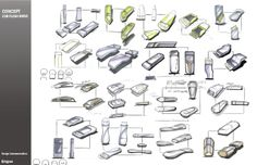 USB sketching. Qingyao Yin, senior  industrial design student from University of Wuppertal, Germany