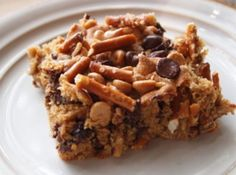 Chubby Hubby Bars - chocolate, pretzels and peanut butter...what more could you ask for?! (When you make, push some of the toppings into the batter so they stick better)