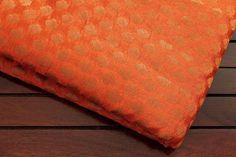 La moitié Yard-rouille Orange Art soie par ArtsyCraftsyDesigns