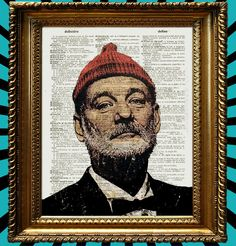Bill Murray Life Aquatic Poster with Steve Zissou by Juxtified | Etsy. Get 5 € off the first item you buy from Etsy. Use my link and validate your credit: etsy.me/1i7kCyu