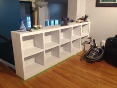 Post with 1085 votes and 618031 views. We built a bookcase railing because we didn't want to feel like we lived in 'jail'. Bookcase Stairs, Bookshelves Built In, Bookcases, Wall Railing, Stair Railing Design, Diy Built In Shelves, Loft Room, Bonus Rooms, Dream Decor