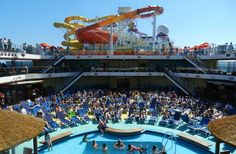 Carnival Breeze view of pool and water works