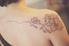 * 등. 어깨. 어깨라인. 꽃. 디자인. 라인. 타투. 타투이스트 서언. : 네이버 블로그