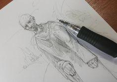 Начитаешься всякого... #drawing #illustration #portrait #sketch #pencil #sketchbook #art #artwork #painting #eskiz #портрет #рисунок #карандаш #набросок #эскиз