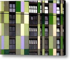 Apartments By Colour 1 Canvas Print / Canvas Art By Dorothy Berry-lound #london  #interiordecor #printforsale