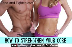 Core muscle basics - what they are and how to train them from Tone-and-Tighten.com