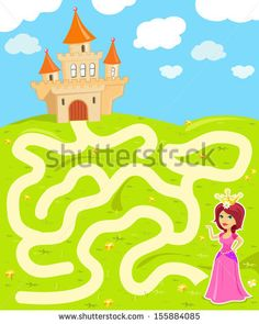 Find Funny Maze Game Beauty Princess Find stock images in HD and millions of other royalty-free stock photos, illustrations and vectors in the Shutterstock collection. Printable Mazes, Free Printables, 3 Year Old Activities, Motor Coordination, Pattern Worksheet, Mazes For Kids, Maze Game, Quote Backgrounds, Preschool Worksheets