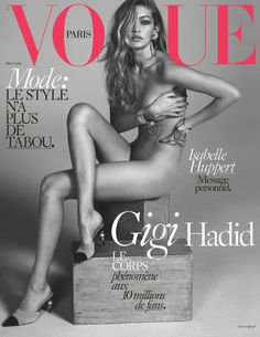 Gigi Hadid by Mert & Marcus on the cover of Vogue Paris March 2016