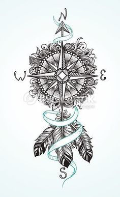 arrow compass tattoo - Tìm với Google #beautytatoos