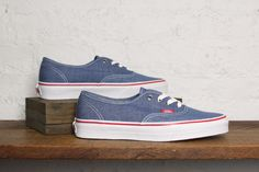 Denim dark blue Authentic, by Vans #shoes #sneakers