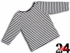 T-shirt Shirt Top Oberteil  stretch 3/4 Arm stretch Viskose schwarz/weiss 36-40
