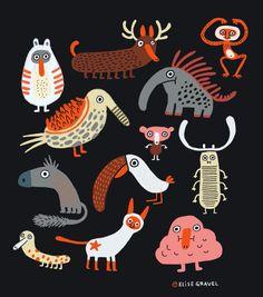 by Elise Gravel Broken Heart Drawings, Broken Heart Art, Cute Illustration, Character Illustration, Illustration For Children, Elise Gravel, Matchbox Crafts, Black Cat Tattoos, Paper Animals