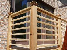 32 DIY Deck Railing Ideas & Designs That Are Sure to Inspire You - Interior Pedia Horizontal Deck Railing, Wood Deck Railing, Porch Railings, Deck Railing Ideas Diy, Banisters, Porch Ideas, Porch Railing Designs, Balustrades, Building A Porch