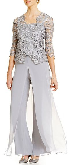 Fantastic Pant Suits Chiffon & Lace Spaghetti Straps Neckline Full-length Mother Of The Bride Dresses