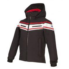 68f4bf7ac62 Descente Jude Boys Ski Jacket in Black and White