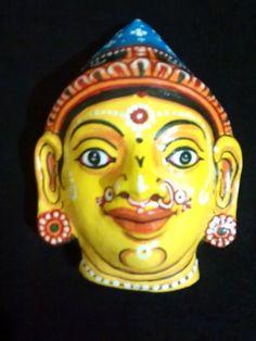 A pattachitra paper mask of Goddess Sita a by PattachitraNet