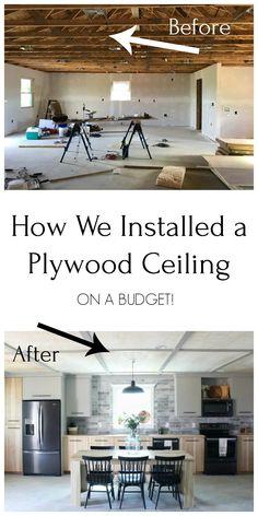 Basement Makeover, Basement Renovations, Home Renovation, Home Remodeling, Basement Bars, Basement Designs, Bathroom Remodeling, Basement Ideas, Plywood Ceiling