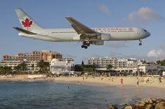 Air Canada Boeing 767-300; C-FMWV@SXM;28.12.2013/737cc